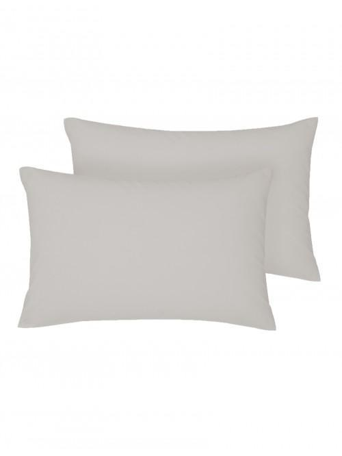 Non Iron Housewife Pillowcase Pair Grey