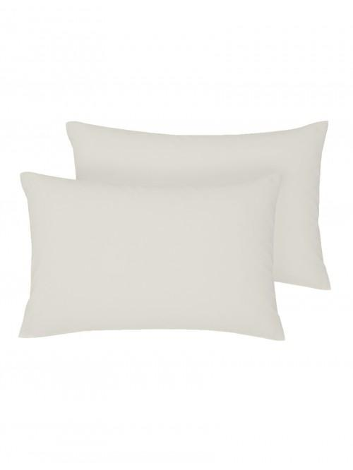 Non Iron Housewife Pillowcase Pair Oatmeal