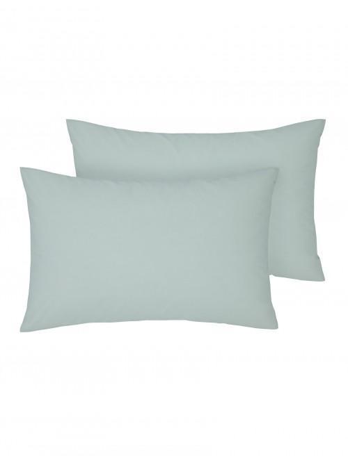 Non Iron Housewife Pillowcase Pair Aqua