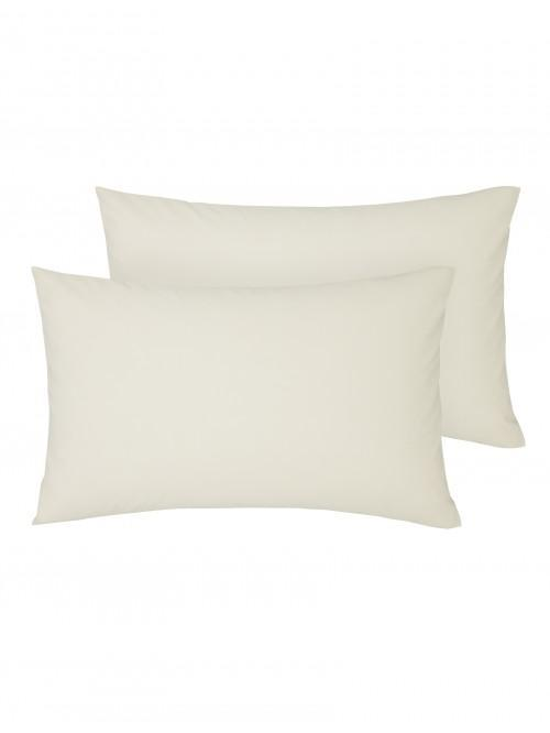 Non Iron Housewife Pillowcase Pair Cream