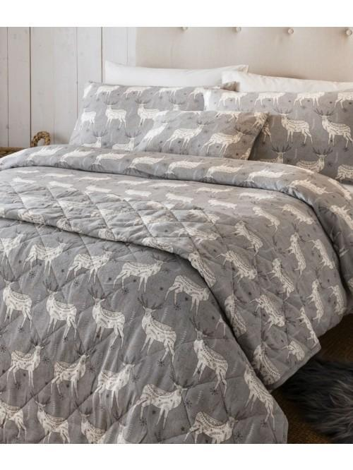 Nordic Stag Flannelette Bedding Collection Natural
