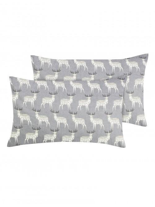 Nordic Stag Flannelette Bed Linen Collection Natural