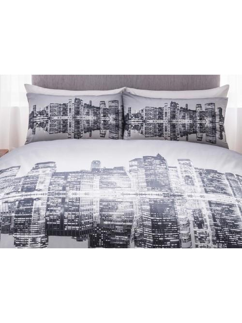 Nyc Photographic Printed Duvet Set Black