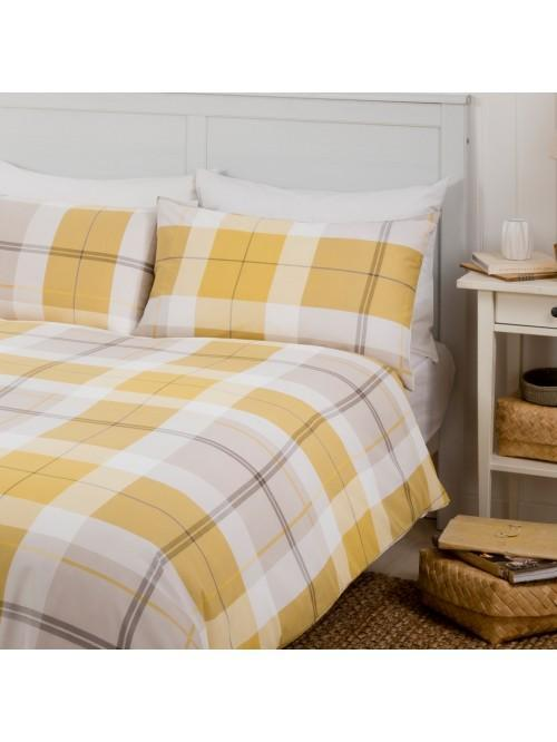 Ochre Check Duvet Set