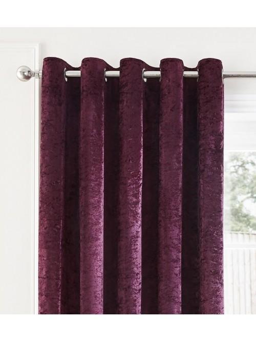 Opulence Eyelet Curtains Plum
