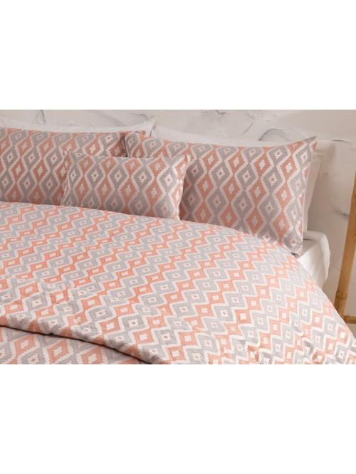 Orange Jacquard Bedding Collection Orange