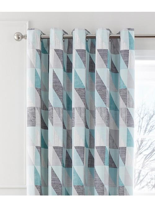 Oslo Eyelet Curtains Duck Egg
