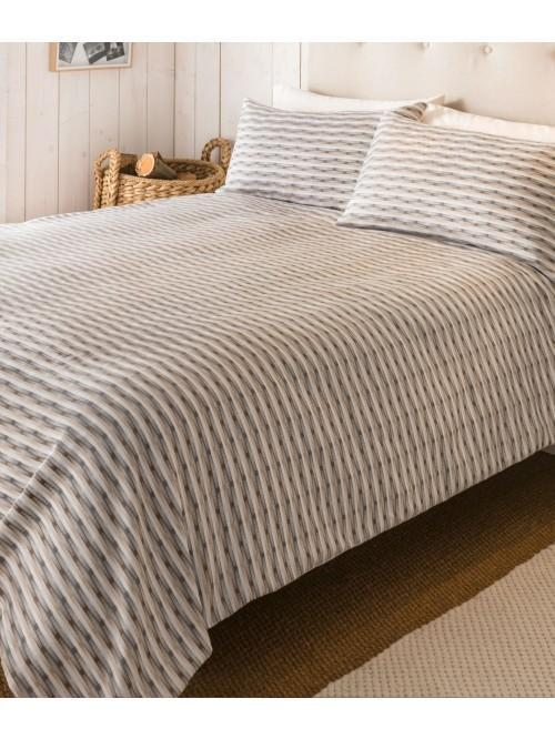 Pearlised Jacquard Duvet Set Natural