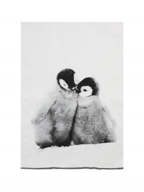Photographic Penguin Teatowel Red