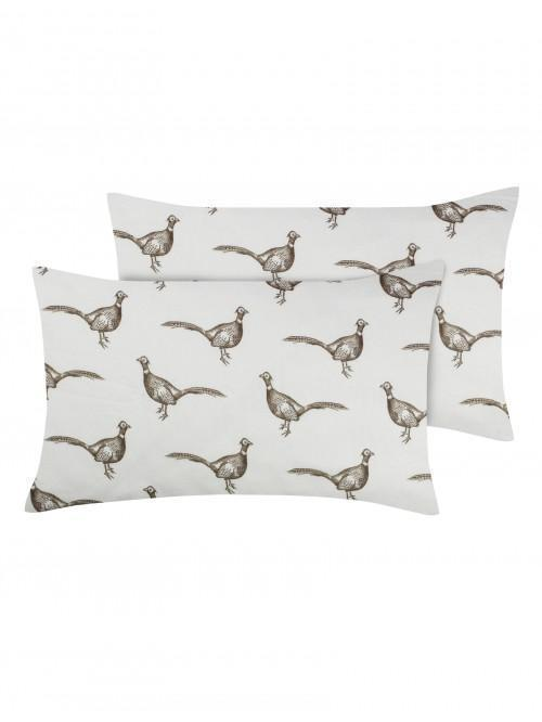 Pheasant Flannelette Bed Linen Natural