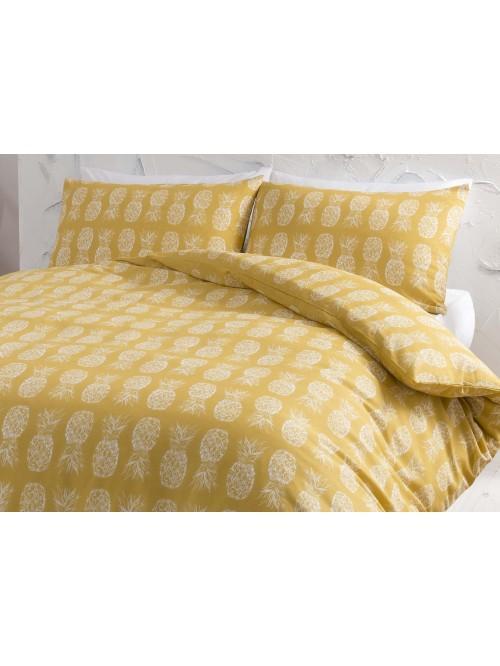 Pineapple Printed Duvet Set Ochre