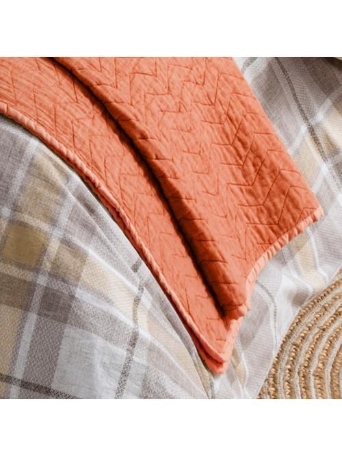 Orange Cotton Bed Bedspread Orange