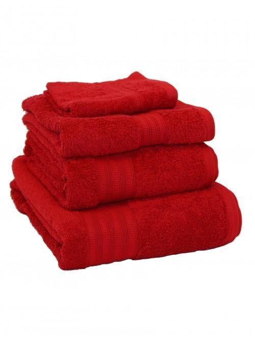 Extra Soft 100% Cotton Towels Red
