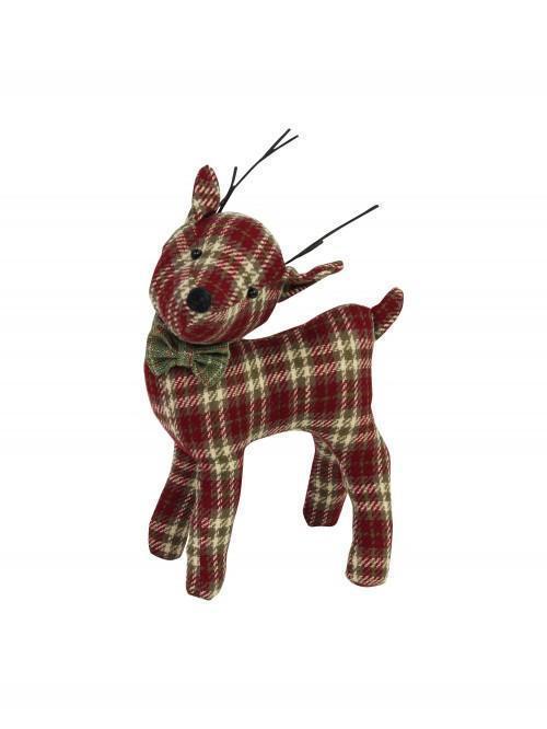 Standing Tartan Reindeer Red