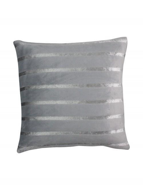 Luxury Satin Stripe Cushion Silver