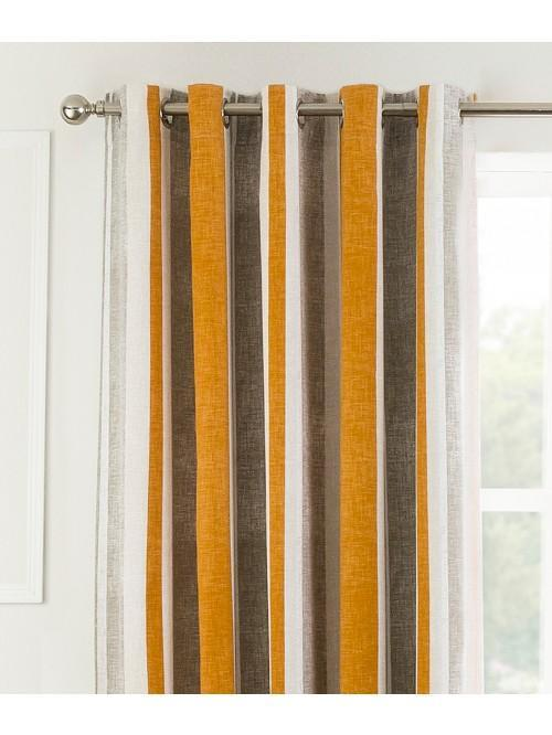 Savanah Eyelet Curtains Orange