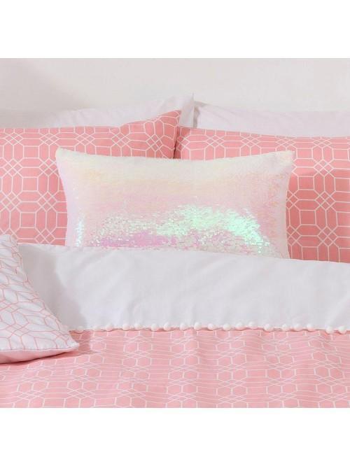 Sequin Cushion White
