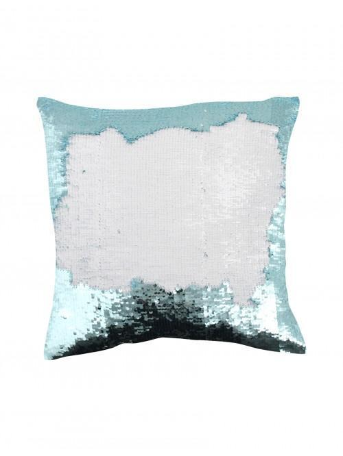 Two Tone Sequin Changer Cushion Duck Egg