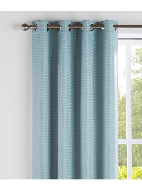 Serene Thermal Blackout Eyelet Curtains Duck Egg