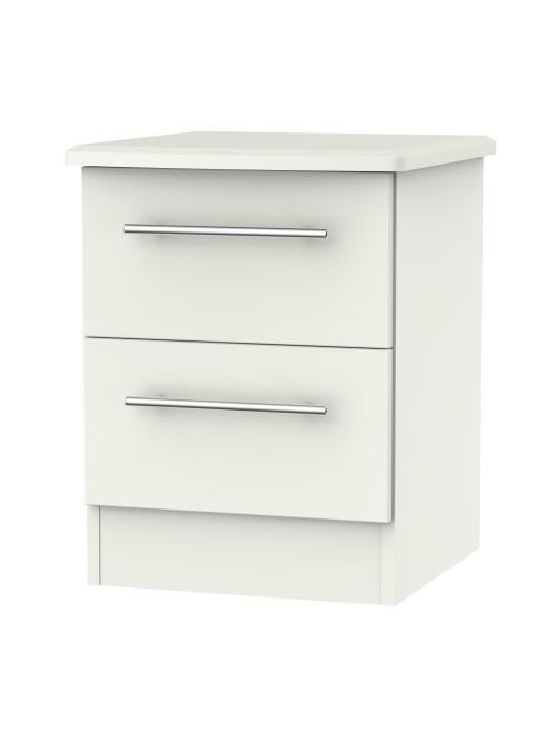 Madison 2 Drawer Bedside Cabinet Matt Porcelain