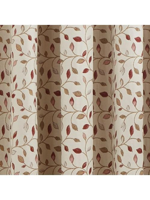 Sherbourne Pencil Pleat Curtains Red