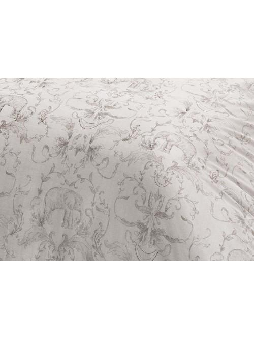 Sketched Elephant 100% Printed Bedding Collection Grey