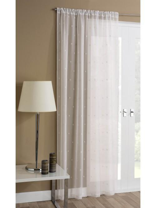 Square Flock Voile Panel Cream