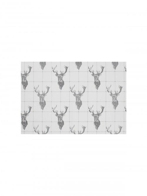 Stag Printed Fabric Placemat Natural