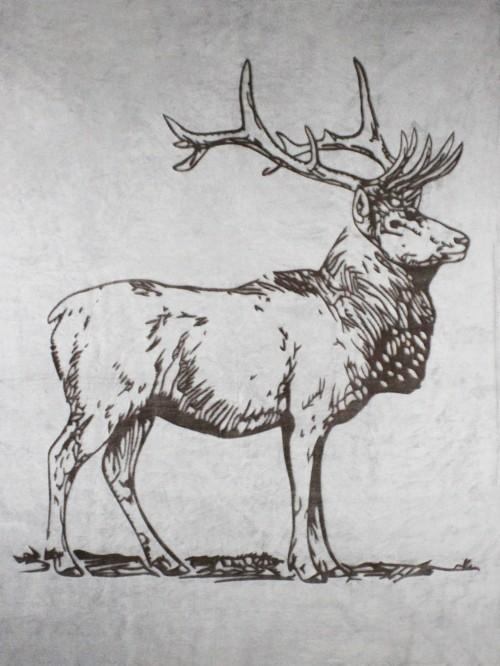 Standing Stag Throw Natural