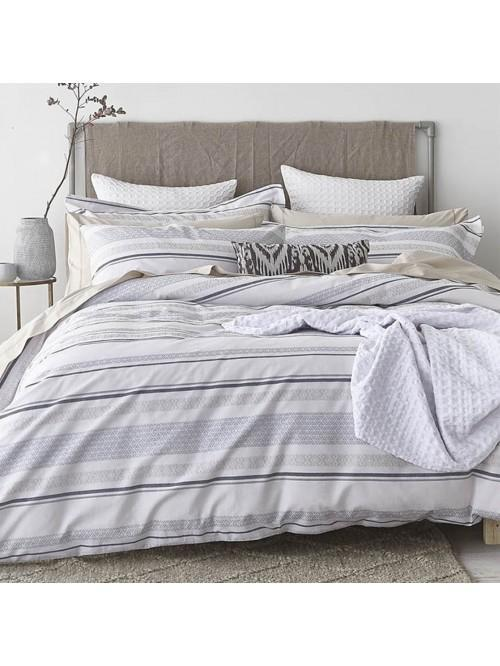 Bianca Stripe Cotton Weave Bedding Collection Blue