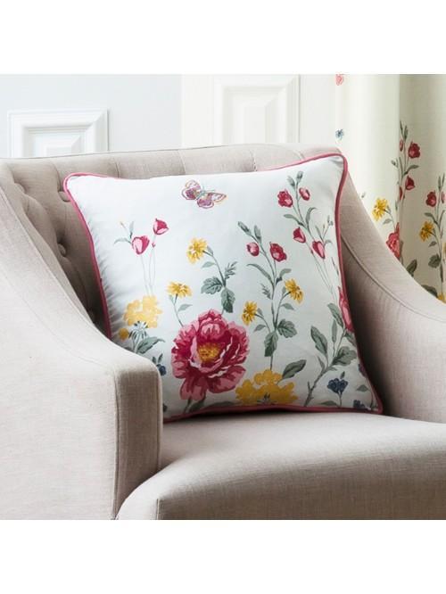 Summer Floral Trail Cushion Multi