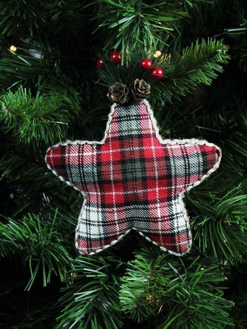 Tartan Star Hanging Decoration