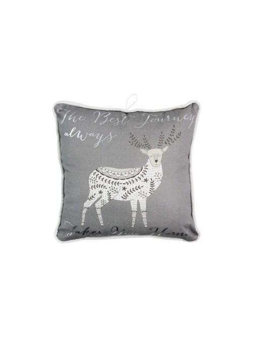 Nordic Stag Mini Cushion Natural