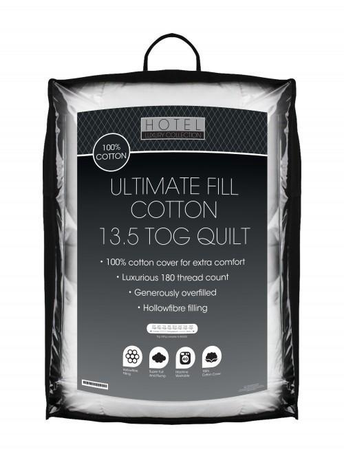 Ultimate Fill 100% Cotton Percale Quilt 13.5 Tog