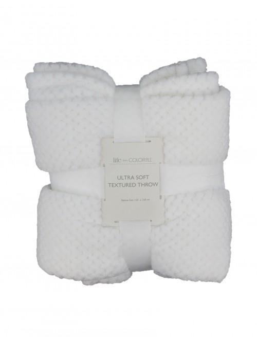 Ultra Soft Textured Throw Cream