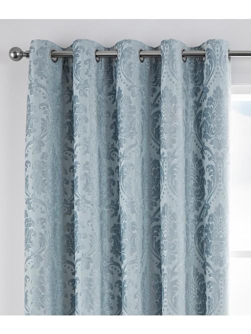 Hotel Valencia Thermal Eyelet Curtains Duck Egg