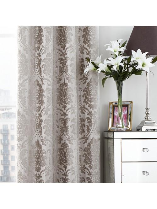Valencia Thermal Eyelet Curtains Champagne