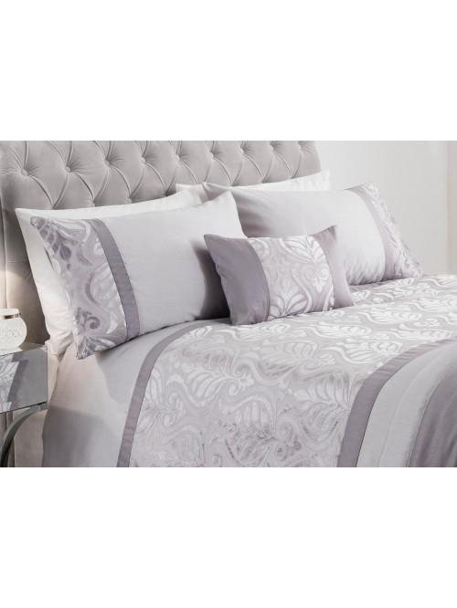 Velvet Scroll Bedding Collection Silver