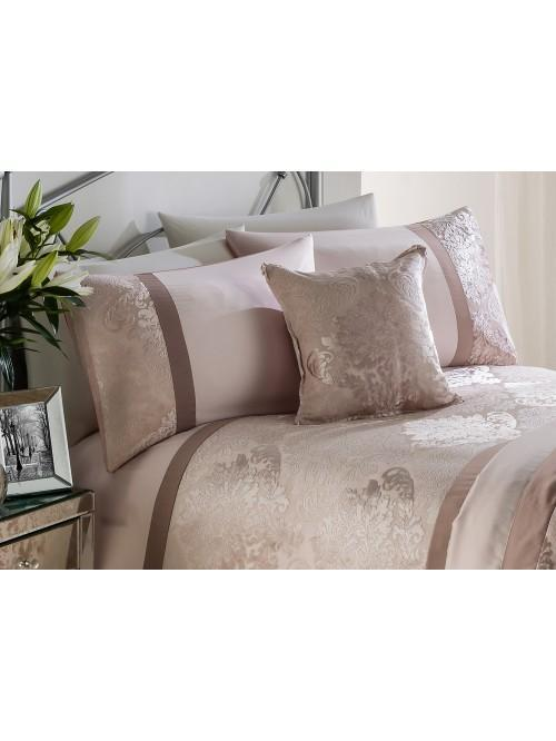 Verona Damask Panel Bedding Collection Blush