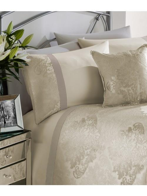 Verona Damask Panel Duvet Set Cream