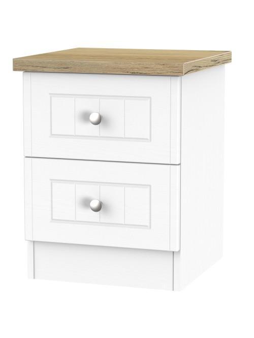 Jackson 2 Drawer Bed Cabinet Porcelain Ash