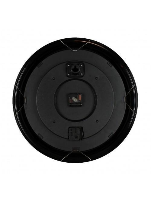 Widdop Round Deep Cased Metal Wall Clock Black Roman 50cm