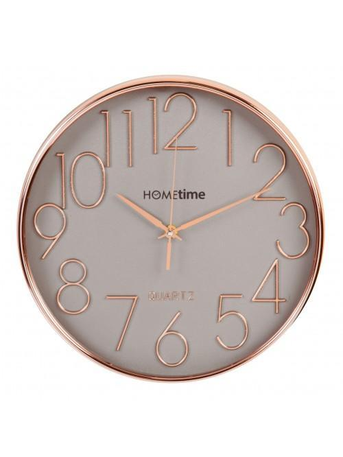 Hometime Round Plastic Wall Clock Rose Gold 30cm