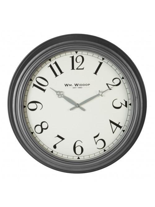 Hometime Grey Metal Wall Clock Arabic Dial 50cm