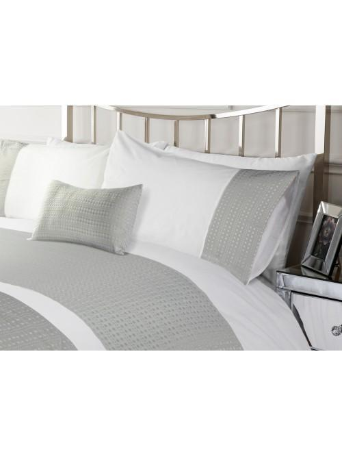 Hotel Waffle Effect Border Bedding Collection Grey