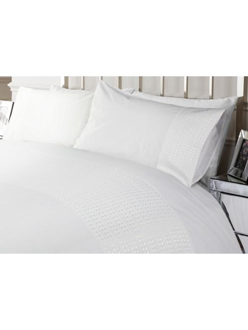 Hotel Waffle Effect Border Bedding Collection White