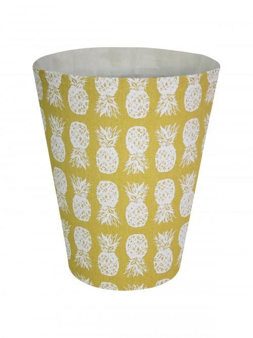 Pineapple Waste Basket Ochre