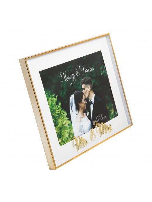 Always & Forever 'Mr & Mrs' Photo Frame 10 x 8