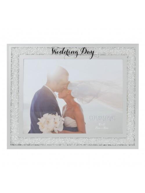 Celebrations 'Wedding Day' Crystal Border Frame 10 x 8