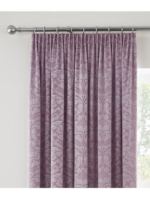 Windsor Pencil Pleat Curtains Heather